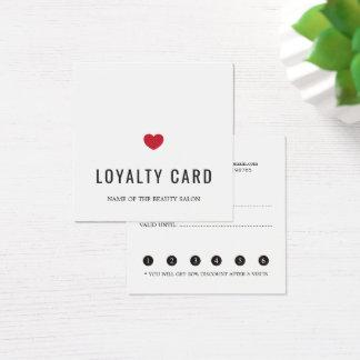 Cartão vermelho branco elegante da lealdade do