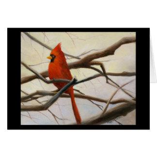 """Cartão """"Vermelho cardinal """""""