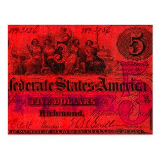 Cartão vermelho confederado