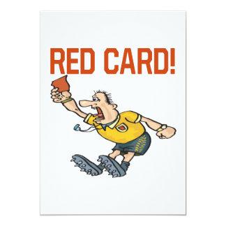 Cartão vermelho convite 12.7 x 17.78cm