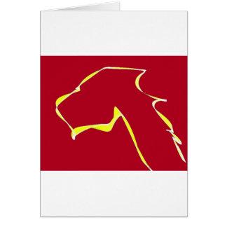 Cartão Vermelho da arte do cão da chama