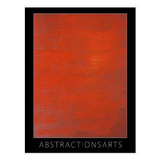 Cartão vermelho da arte moderna