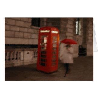 Cartão vermelho da caixa/guarda-chuva do telefone