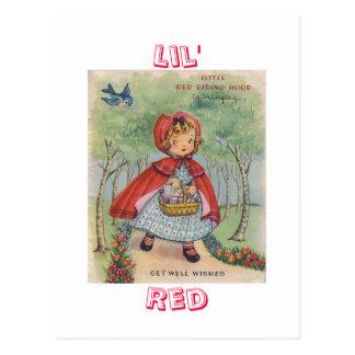 Cartão vermelho da capa de equitação do vintage