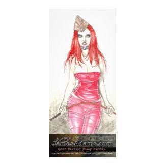 Cartão vermelho da cremalheira da ascensão de Phoe 10.16 X 22.86cm Panfleto