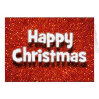 cartão vermelho da faísca do Natal feliz do efeito