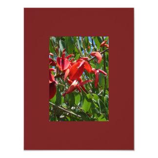 cartão vermelho da flor