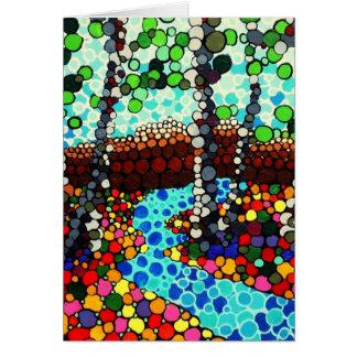 Cartão Vermelho da floresta do pixel