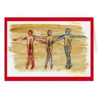 Cartão (vermelho) da harmonia da dança