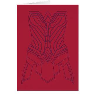 Cartão Vermelho da mulher maravilha & esboço da armadura