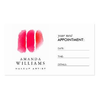 Cartão vermelho da nomeação das amostras de folha cartão de visita