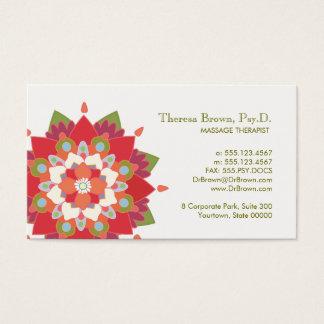 Cartão vermelho da nomeação de Lotus da terapia da