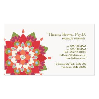 Cartão vermelho da nomeação de Lotus da terapia da Cartoes De Visitas