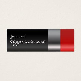 Cartão vermelho da nomeação do batom