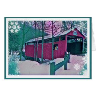 Cartão vermelho da ponte coberta