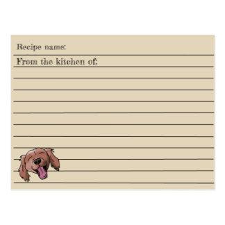 Cartão vermelho da receita do Retriever