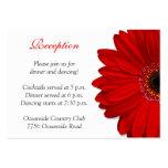 Cartão vermelho da recepção de casamento da margar cartao de visita