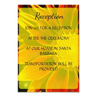 Cartão vermelho da recepção de casamento do