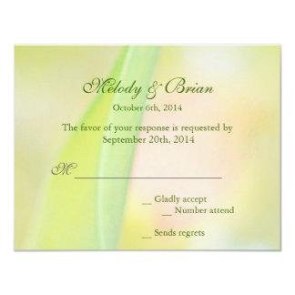 cartão vermelho da resposta da flor RSVP da tulipa Convites Personalizado