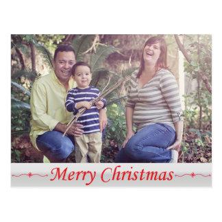 Cartão vermelho da rotulação do Feliz Natal