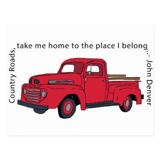 Cartão vermelho das estradas secundárias do