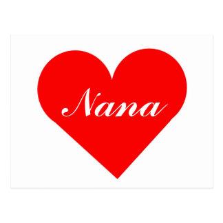 Cartão vermelho de Nana do coração