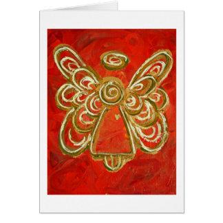 Cartão vermelho do anjo