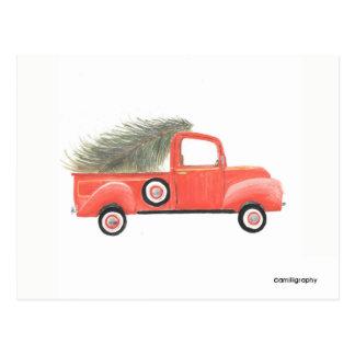 Cartão vermelho do caminhão de Nana