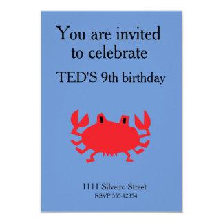 Cartão Vermelho do caranguejo do mar