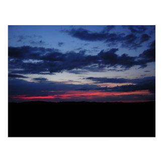 Cartão vermelho do céu