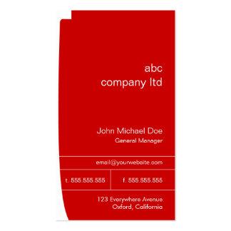 Cartão vermelho do consultor empresarial modelos cartões de visitas