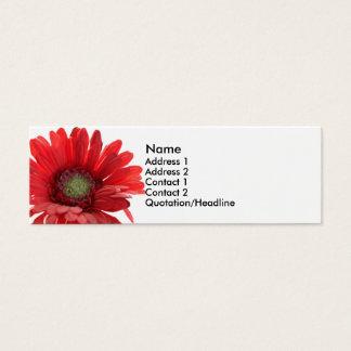 Cartão vermelho do contato da margarida de Gerber
