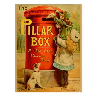Cartão vermelho do correio da caixa de coluna das