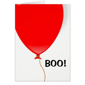 Cartão Cartão vermelho do Dia das Bruxas do balão