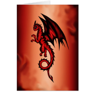Cartão Vermelho do dragão