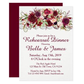 Cartão vermelho do ensaio do casamento de Boho