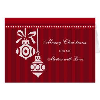 Cartão vermelho do Feliz Natal da mãe das