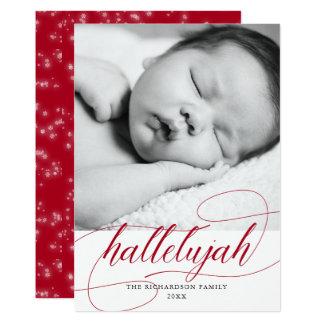 Cartão Vermelho do feriado da aleluia | do Natal com foto