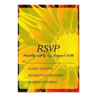 Cartão vermelho do girassol RSVP
