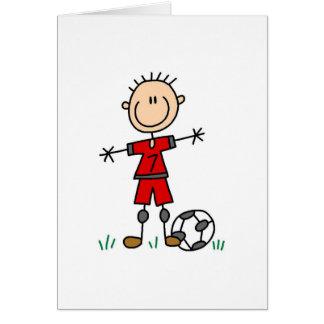 Cartão vermelho do jogador de futebol