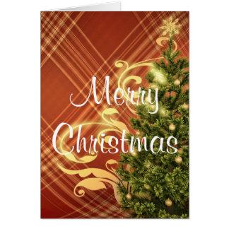 Cartão vermelho do Natal