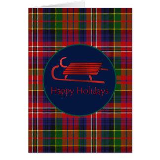 Cartão vermelho do Natal da xadrez de MacPherson
