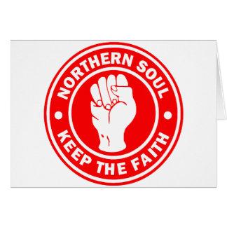 Cartão vermelho do norte do logotipo da alma