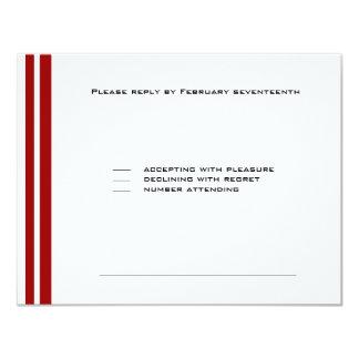Cartão Vermelho do partido de Mitzvah do bar do basebol