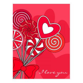 Cartão vermelho do pirulito