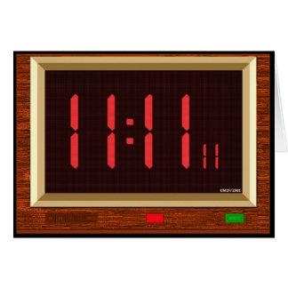 Cartão (vermelho) do pulso de disparo do 11:11
