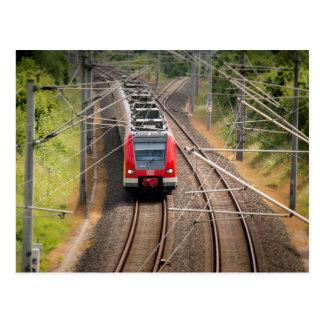 Cartão vermelho do trem
