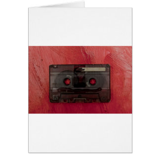 Cartão Vermelho do vintage da música da cassete de banda