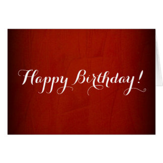 Cartão Vermelho dramático do feliz aniversario