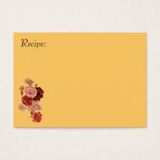 Cartão vermelho e cor-de-rosa da receita do cravo